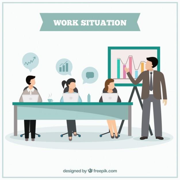 Situaci N De Trabajo En Dise O Plano Descargar Vectores