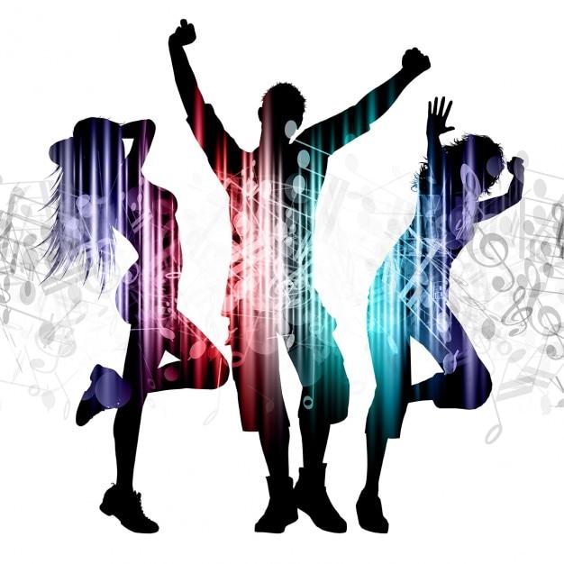 Resultat d'imatges de dibujo gente bailando