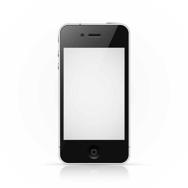 Smartphone iphone con pantalla en blanco Vector Premium