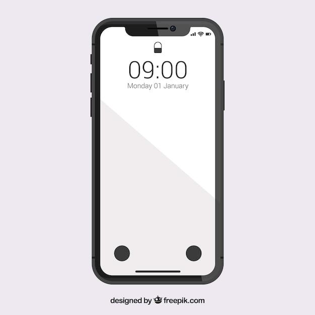 Smartphone con pantalla blanca | Vector Gratis