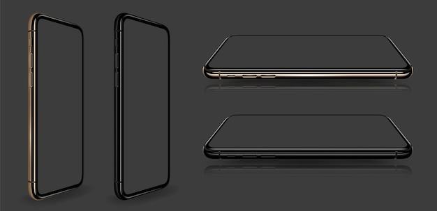 Smartphone con pantalla transparente estilo iphon Vector Premium