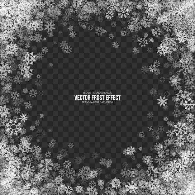 Snow frost effect 3d transparente Vector Premium
