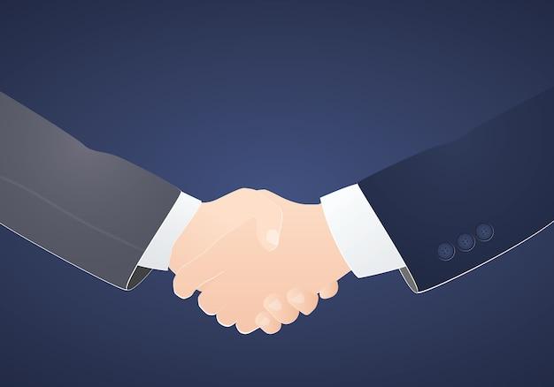Socios comerciales apretón de manos concepto inspiración negocios Vector Premium