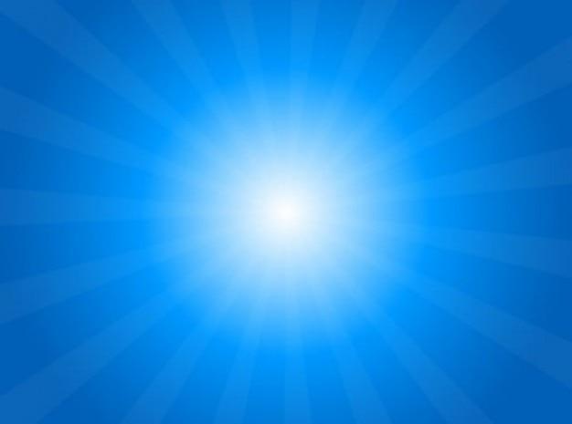 Rayos De Sol Vector: Sol En El Cielo Con Rayos De Sol