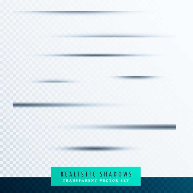 Sombras borrosas realistas vector gratuito