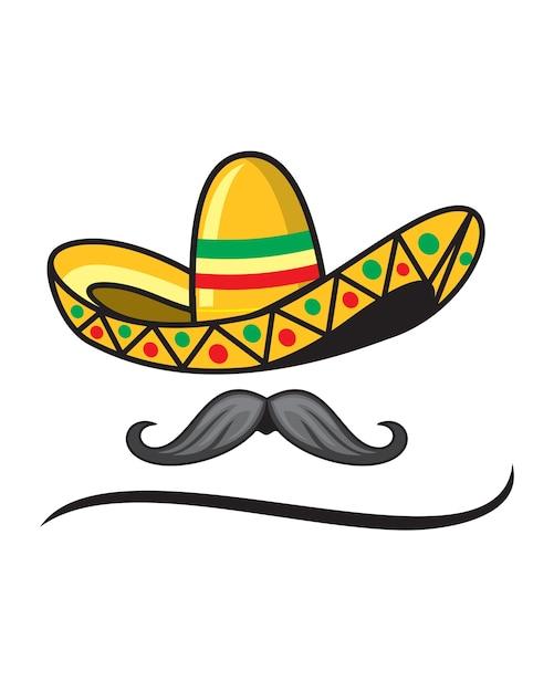 Sombrero y bigote mexicano descargar vectores premium for Mexican logos images