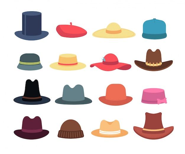 Ilustración de Sombrero Mujer De Silueta y más Vectores