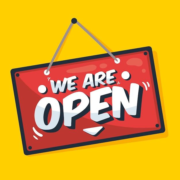 Somos concepto abierto de signo Vector Premium