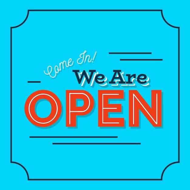 Somos concepto de signo abierto vector gratuito