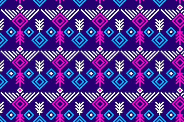 Songket de patrones sin fisuras vívidos violeta y rosa vector gratuito