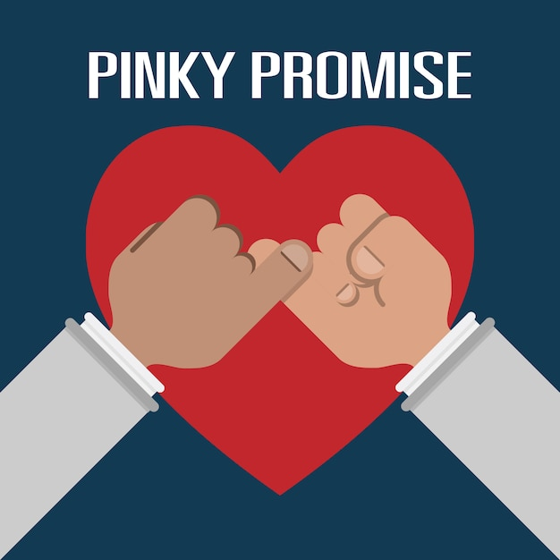 Sostener el dedo meñique es una promesa mala Vector Premium