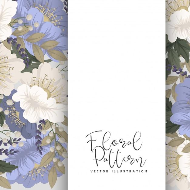 Spring flower boarder - flor azul claro vector gratuito