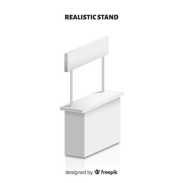 Stand moderno con diseño realista Vector Premium