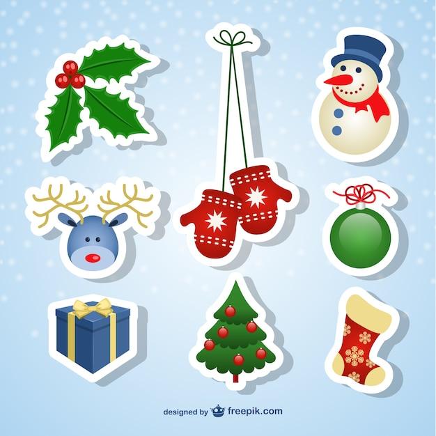 Stickers de navidad   Descargar Vectores gratis
