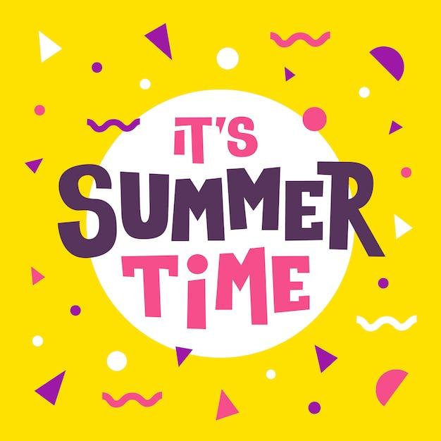 Su horario de verano, letras Vector Premium