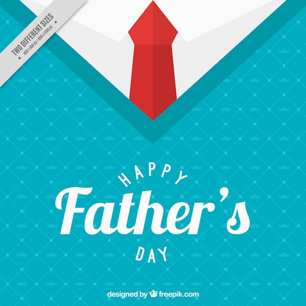 Suéter de fondo con corbata para el día de padre
