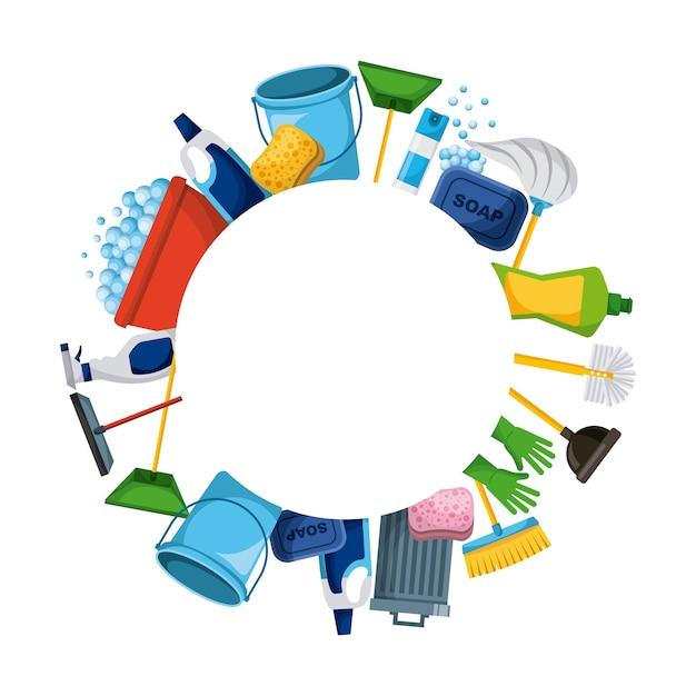 Suministros de limpieza de primavera herramientas de marco - Limpieza en casa ...