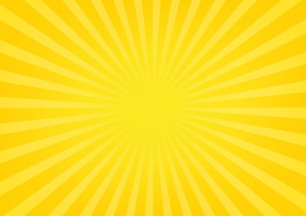 Sun Rayos De Sol Sobre Fondo De Color Amarillo Y Naranja