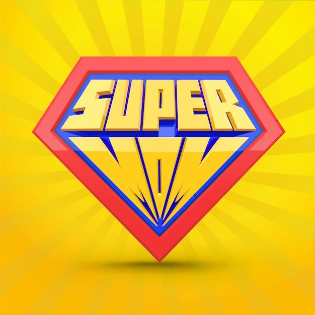 Súper mamá. logo de supermamá. concepto del día de la madre Vector Premium