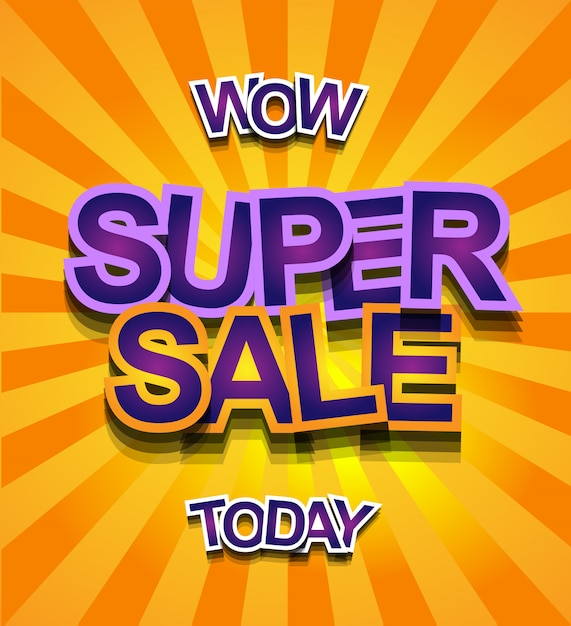 Super sale today banner Vector Premium