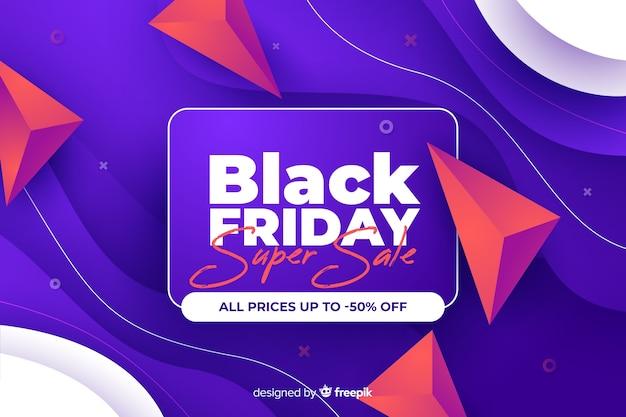 Super venta gradiente viernes negro vector gratuito