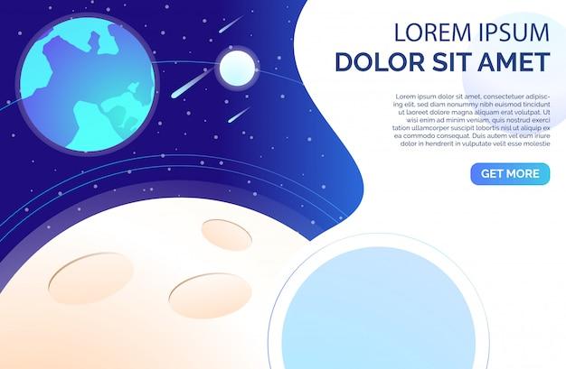 Superficie del planeta con cráteres y muestra de texto vector gratuito