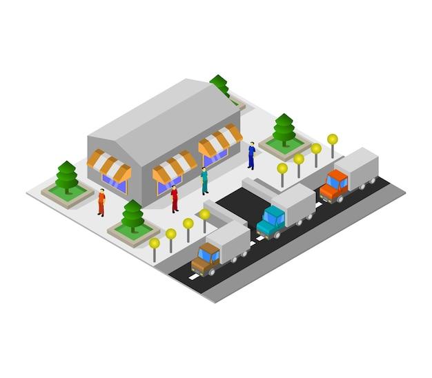 Supermercado isometrico vector gratuito