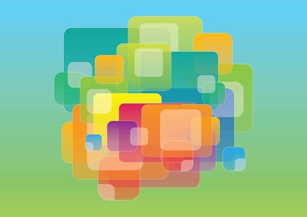 Superposici n de cuadros de colores descargar vectores - Cuadros de colores ...
