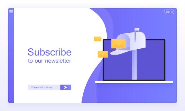 Suscripción por correo electrónico, boletín en línea Vector Premium