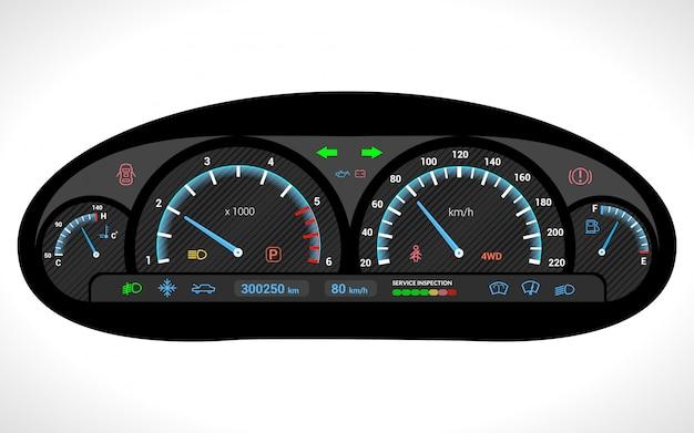 Tablero de instrumentos del coche aislado vector gratuito