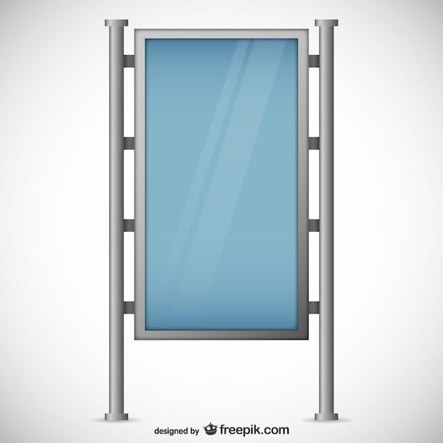 Tabl n de anuncios con estructura de metal descargar vectores gratis - Estructura de metal ...