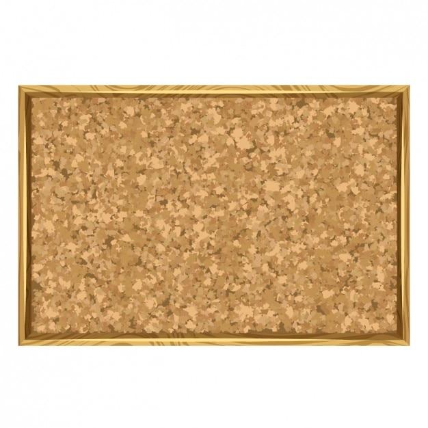 Tablón de corcho con marco de madera | Descargar Vectores gratis
