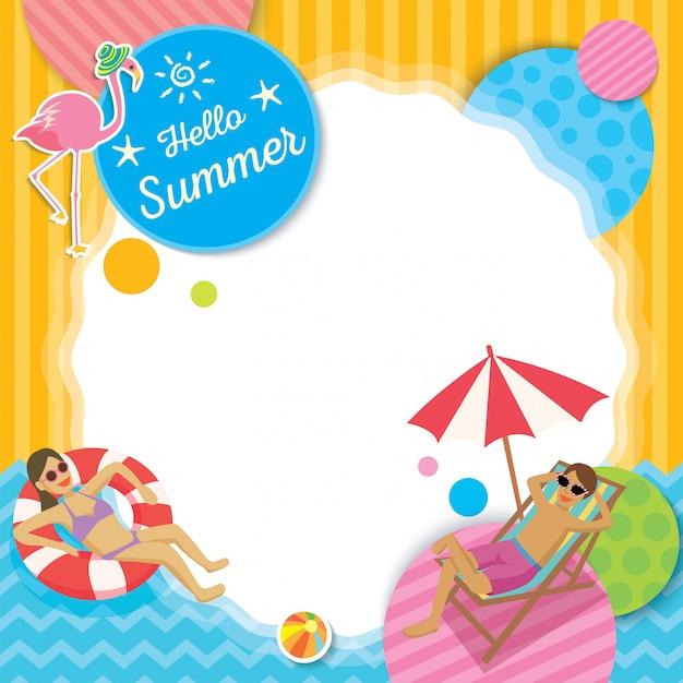 Tamplate de verano Vector Premium