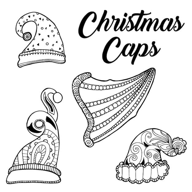 Tapas de navidad dibujadas a mano | Descargar Vectores Premium