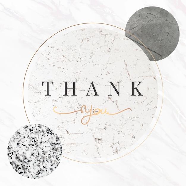 Tarjeta de agradecimiento vector gratuito