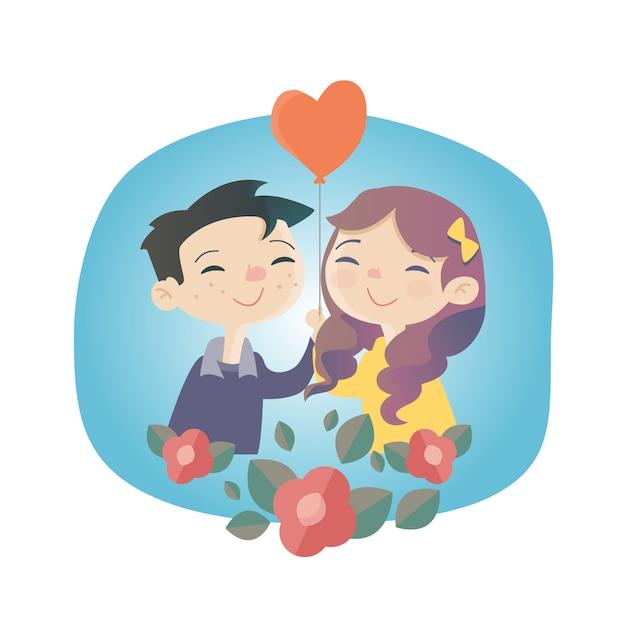 Tarjeta de amor vector gratuito
