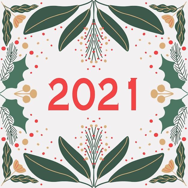 Tarjeta de año nuevo moderno estilo art deco Vector Premium