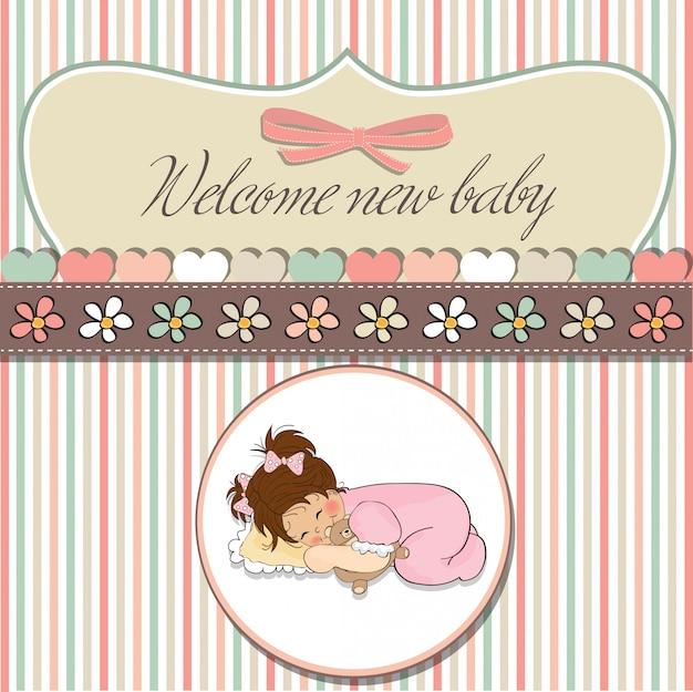 Tarjeta De Baby Shower Con Juego De Nina Pequena Descargar