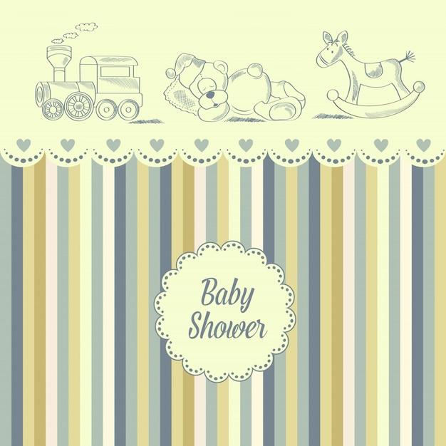 Tarjeta de baby shower Vector Premium