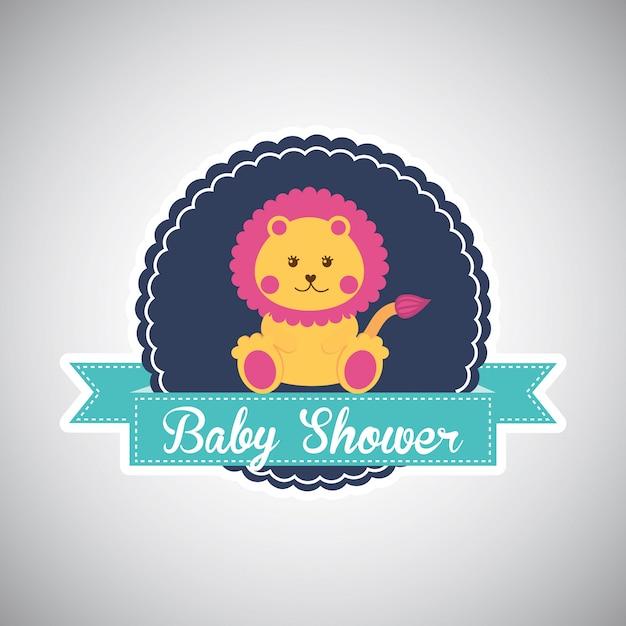 Tarjeta de baby shower vector gratuito