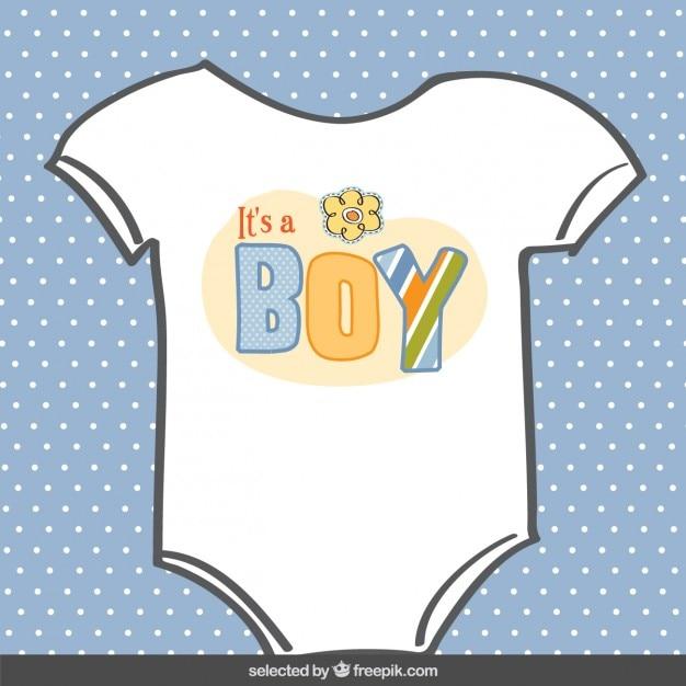Tarjeta de bienvenida del bebé con un body de un niño   Descargar ...