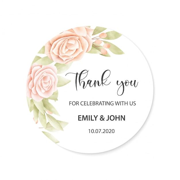 Tarjeta de boda con marco floral vector gratuito
