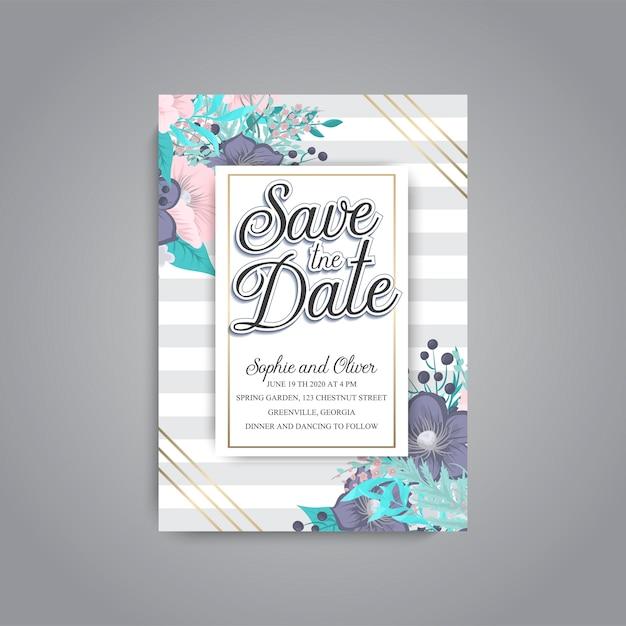 Tarjeta de boda Vector Premium
