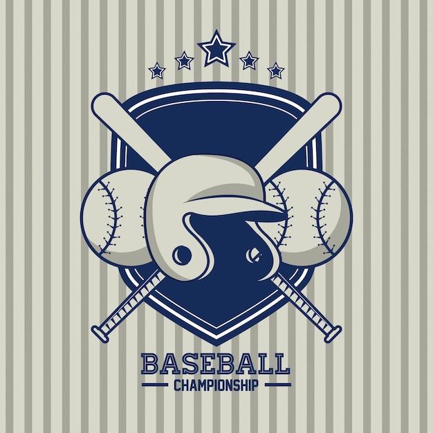 Tarjeta de campeonato de beisbol Vector Premium