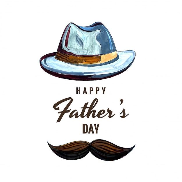 Tarjeta de celebración del día de padres feliz vector gratuito