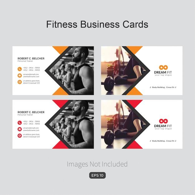 Tarjeta corporativa elegante azul para fitness vector gratuito
