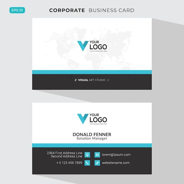 Tarjeta corporativa elegante vector gratuito