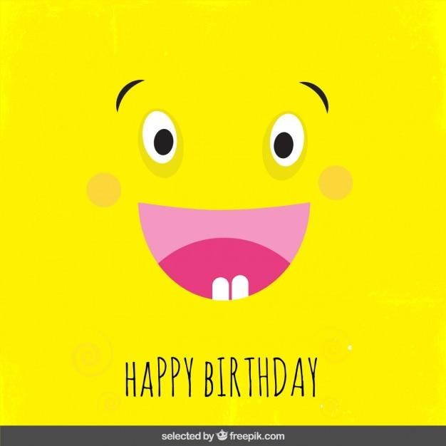 f3cf9b275 Tarjeta de cumpleaños de dibujos animados amarillo