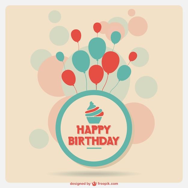 Tarjeta de cumpleaños vector gratuito