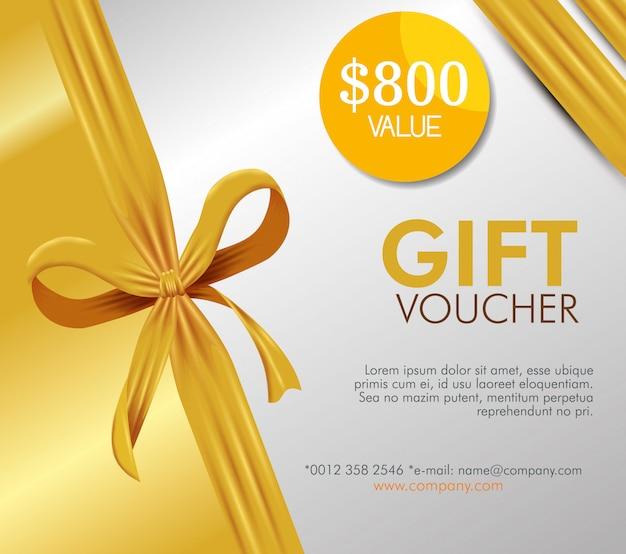 Tarjeta de cupón de regalo con oferta especial vector gratuito